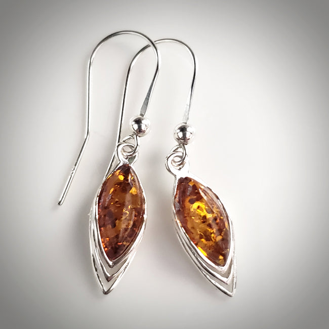 Simple amber earrings