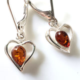 small dangle hearts earrings