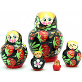 Small Nesting Doll with Strawberry