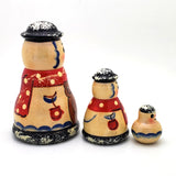 Snowman russian stacking doll
