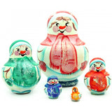 Small Snowman 5 piece Nesting Doll Set