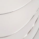 "18"" box sterling silver chain"