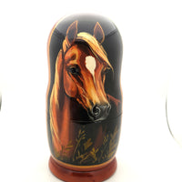 "buyrussiangifts-store - Horse Nesting Doll 5 piece set 7""Tall - BuyRussianGifts Store - Nesting doll"