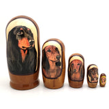"buyrussiangifts-store - Weiner Dog Dachshund Breed Matryoshka Doll 4""Tall Set - BuyRussianGifts Store - Nesting doll"