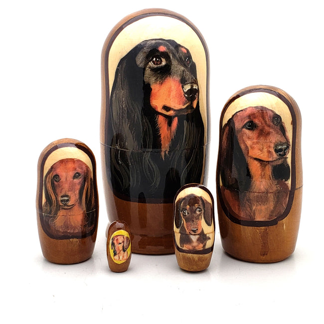 Weiner Dog Dachshund Breed Matryoshka Doll 4
