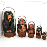 "Dachshund Weiner Dog Breed Nesting Doll 7""Tall Set"