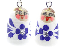 buyrussiangifts-store - White Nesting Doll Earrings - BuyRussianGifts Store - Souvenirs