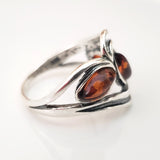 dark brown amber wide ring