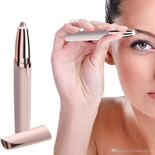 Load image into Gallery viewer, Mini Electric Eyebrow Trimmer Lipstick Brows Pen Hair Remover Painless Eye brow Razor Epilator with LED Light OPP Package