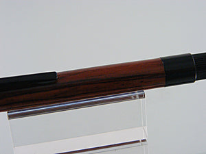Ballpoint Pen, Handmade Pen in Black Chrome and Burmese Rosewood