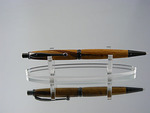 Mechanical Pencil, Handmade .7mm Pencil in Black Titanium and Marblewood