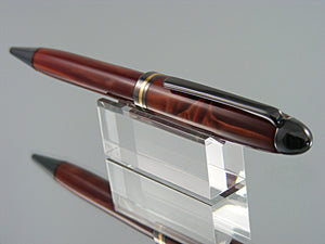 Handmade Pen, Ballpoint Pen in Gunmetal and 24k Gold with Cosmic Copper Acrylic