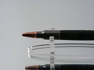 Bolt Action Pen, Handcrafted Ballpoint Pen in Gunmetal and Woodlands Camo Acrylic