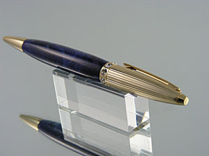 Elegant Pen, Handmade Ballpoint Pen in 24k Gold with Indian Princess Acrylic and Swarovski crystals