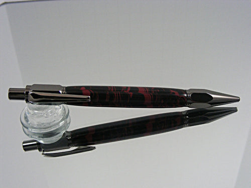 2mm Mechanical Pencil, Handmade in Gunmetal and Rubber Composite