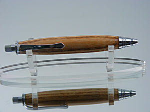 Sketch Pencil, Handmade 3mm Mechanical Pencil in Chrome and Coffee Tree Wood