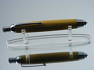 Sketch Pencil, Handmade 5.6mm Mechanical Pencil in Chrome and American Elm