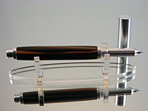 Rollerball,Handmade Machined Aluminum Pen with Copper Penny Acrylic