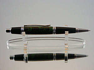 Mechanical Pencil, 7mm Handmade Pencil in Chrome and Ebonite