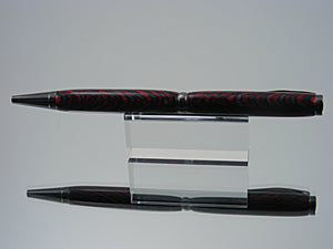 Ballpoint Pen, Handcrafted in Black Titanium and Dyed Laminate