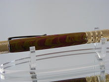 Load image into Gallery viewer, Industrial Ballpoint Pen, Handcrafted in Raw C3604 Brass and Ebonite