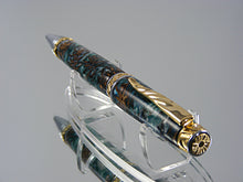 Load image into Gallery viewer, Cigar Pen, Handcrafted in Chrome and Upgrade Gold with Mini Pine Cones in Acrylic
