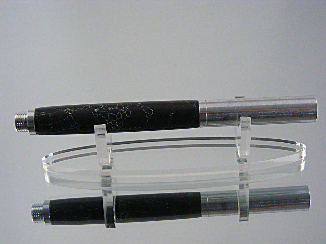 Industrial, Handcrafted Fountain Pen with 6061 Aluminum and Penn-stone