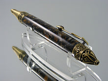 Load image into Gallery viewer, Gothic, Handcrafted Pen in Antique Brass with Renaissance Acrylic