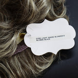 SYNTHETIC WIG SHORT CURLED TIPS RETRO ASH BLONDE DARK ROOTS TAG