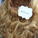 SYNTHETIC WIG LONG WAVY STRAWBERRY BLONDE SIDE PART TAG