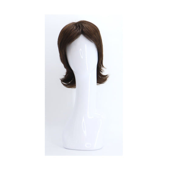 SYNTHETIC WIG MEDIUM LENGTH DARK CHOCOLATE BROWN SYNS-DARK CHOCOLATE DARK BROWN 827 FRONT