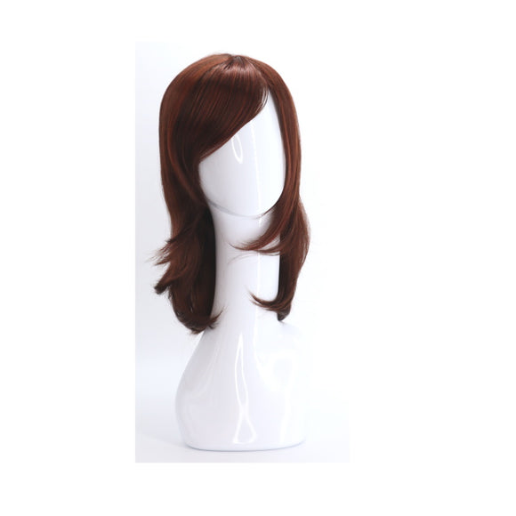 SYNTHETIC WIG MEDIUM LONG BURGUNDY SYNS-BURGUNDY HIGHLIGHT RED BROWN 844 FRONT