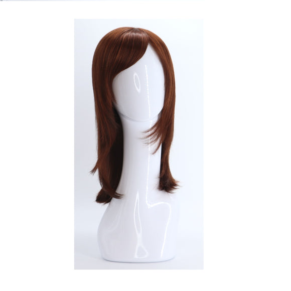 SYNTHETIC WIG MEDIUM LONG RED BROWN SYNS-CHESTNUT RED BROWN 843 FRONT