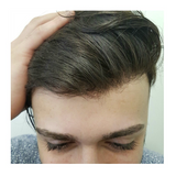 Men's hairpieces injected with Remy human hair (0.03mm base thickness)