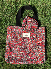 Load image into Gallery viewer, Mother's Day Pack: Liberty Fabric Tote and Makeup Bag + Pink Paddock card