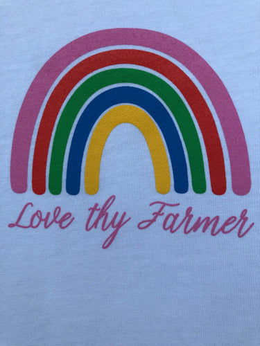 Ladies' Short Sleeve Rainbow T-Shirt in White