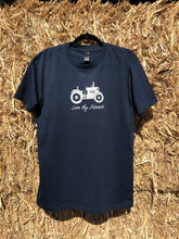 Load image into Gallery viewer, Men's Short Sleeve Tractor T-Shirt in Navy with Sand Printing