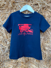 Load image into Gallery viewer, Kids' Short Sleeve Navy Header T-Shirt