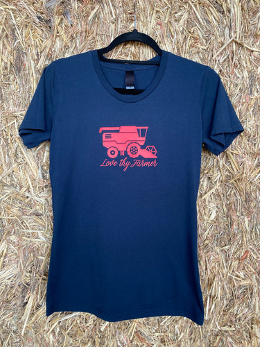 Ladies' Short Sleeve Navy Header T-Shirt