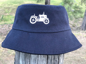 Kids' Sun Hat with Embroidered tractor