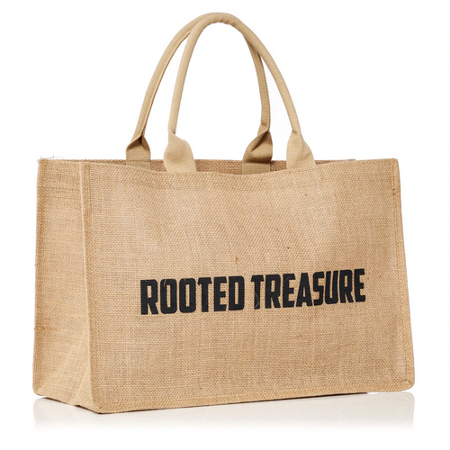 Rooted Treasure's 100% Natural Jute Tote