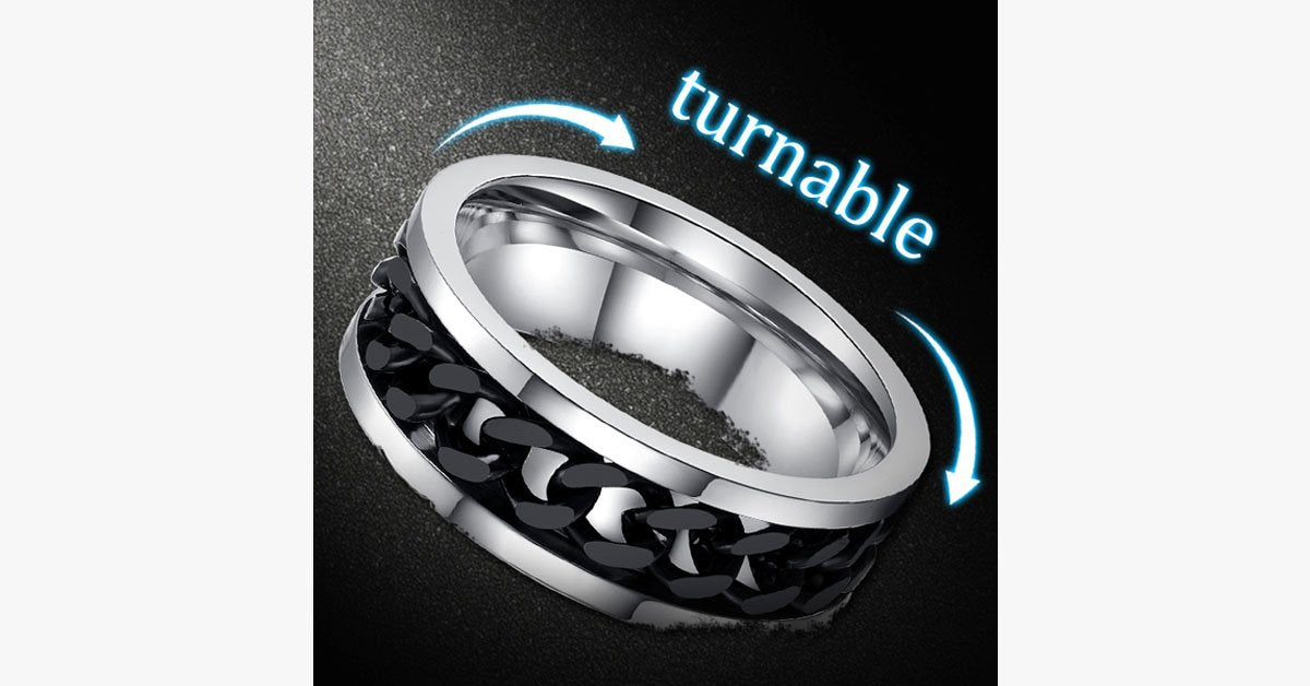 Stainless Steel Men's Chain Ring