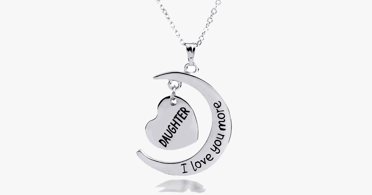 Daughter I Love You More Pendant