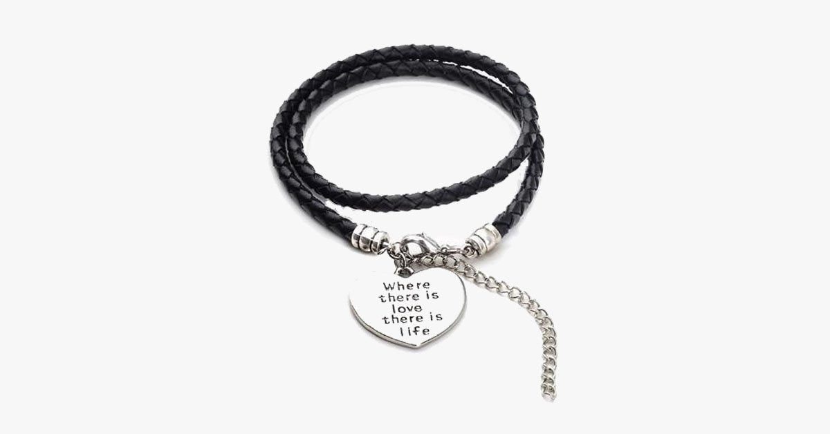 Where there is love there is life - Hand Stamped Bracelet