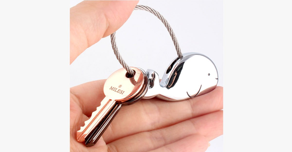Whale Key Ring For Lovers With Free Gift Box