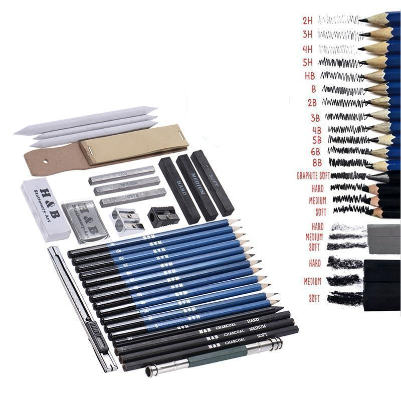 32pcs Professional Sketch And Drawing Kit