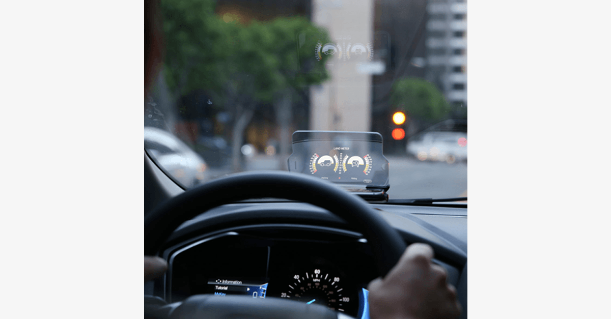 Universal Phone Holder - Foldable, Hands-Free Transparent Display - Converts Your Phone into Head-Up Display