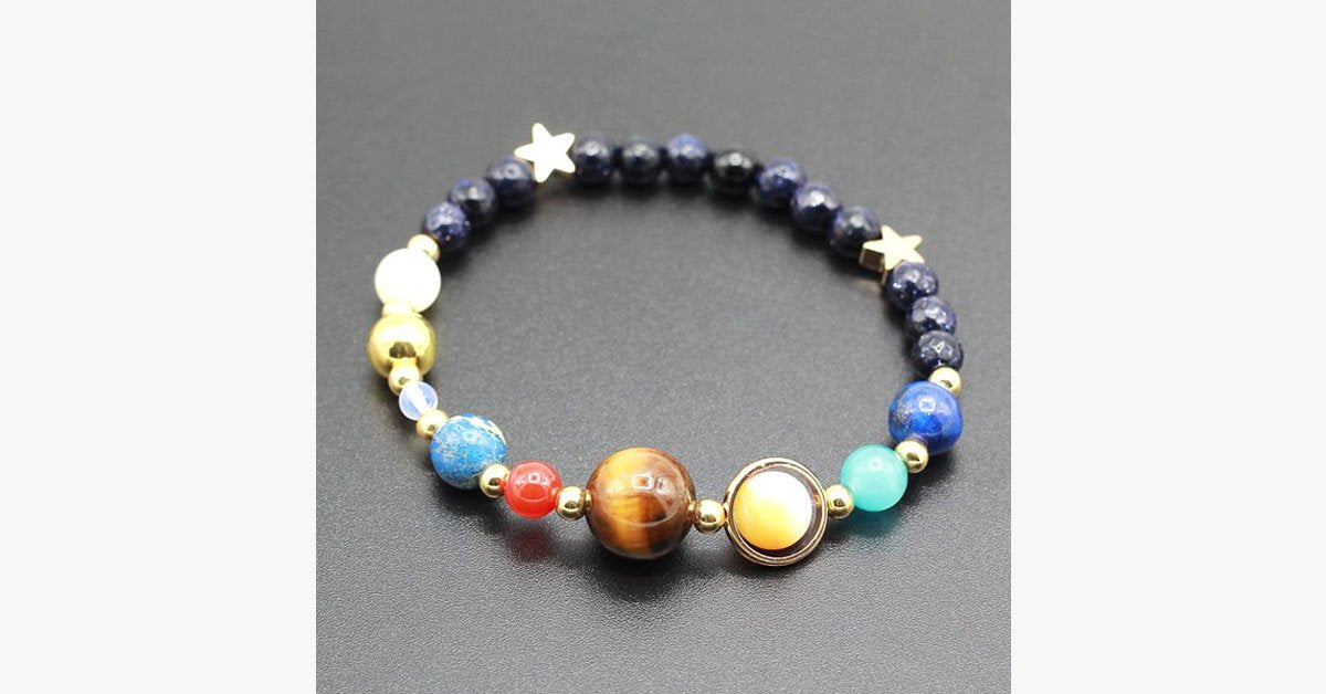 Unique Planet Bead Bracelet – Just Out of This World!
