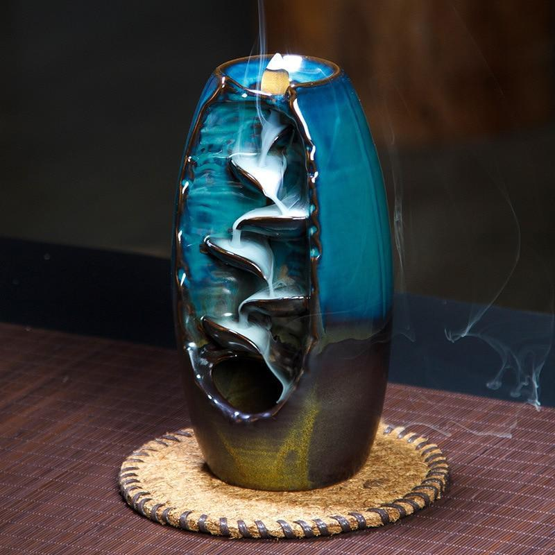 Incense Holder Ceramics Waterfall Backflow Incense Burner