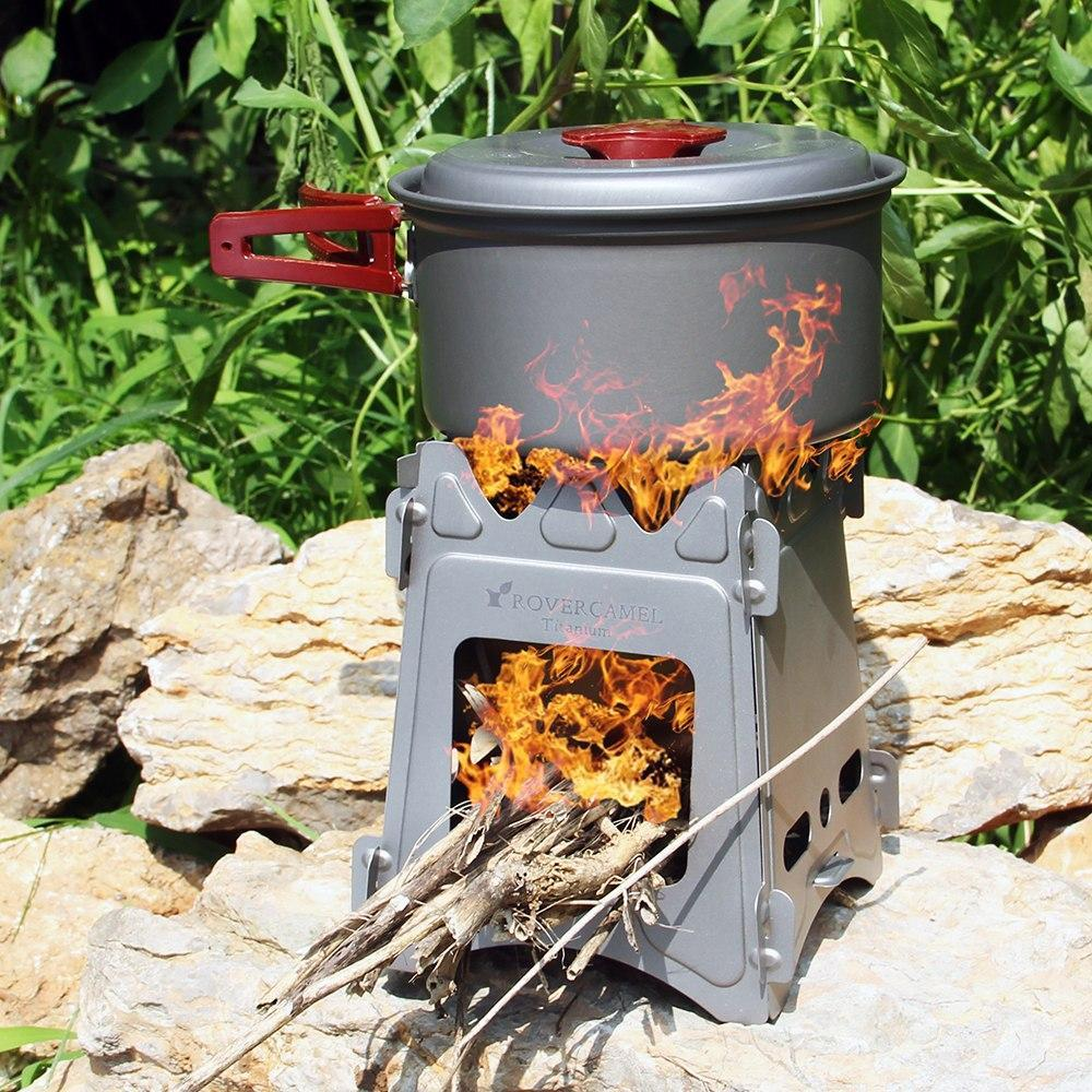 Travel Foladable Titanium Wood Burner